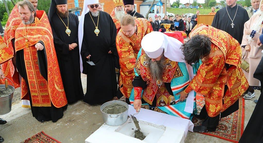 В нижегородском селе заложили храм в честь священномученика Николая Розова