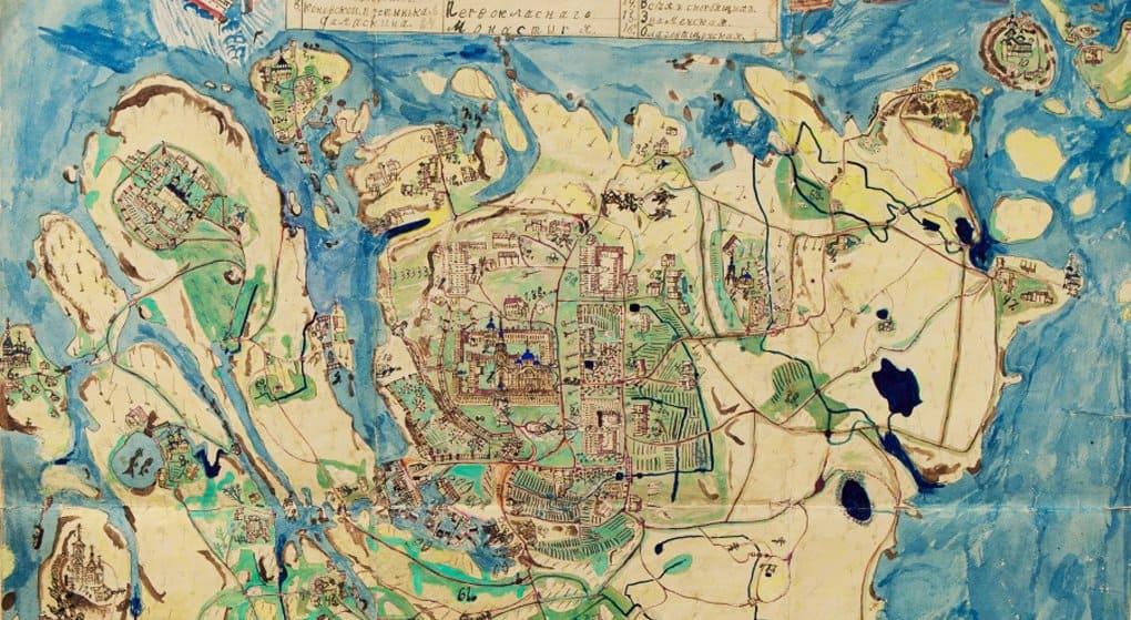 Опубликована уникальная рукописная карта Валаама 1903 года