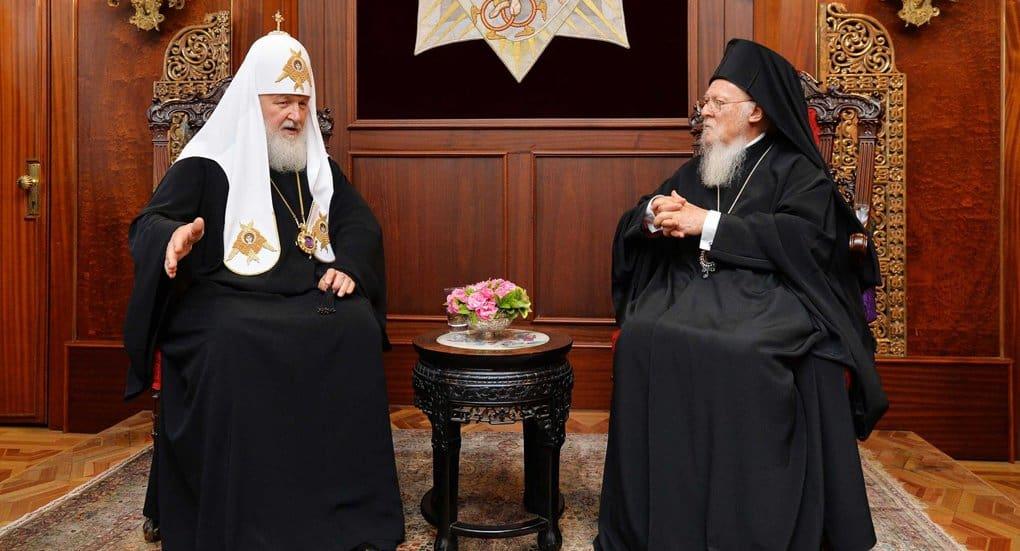 Ничего секретного с патриархом Варфоломеем не обсуждалось, - патриарх Кирилл