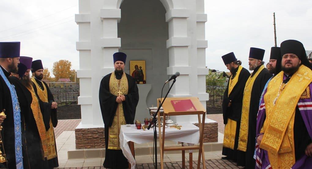 В кемеровском поселке открыли часовню в память о жертвах пожара в «Зимней вишне»