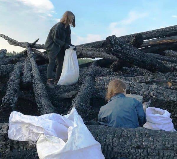 В Кондопоге консервируют сгоревшую Успенскую церковь
