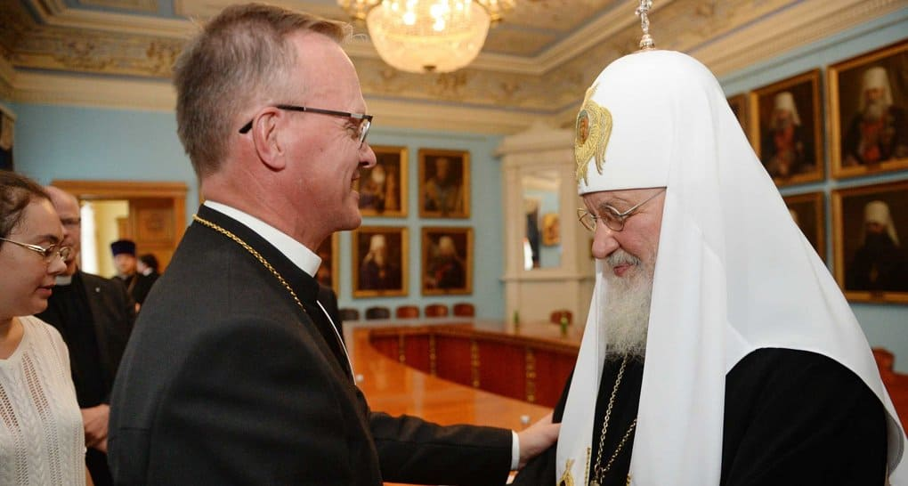 Патриарх Кирилл поблагодарил лютеран Финляндии за их приверженность традиционному браку