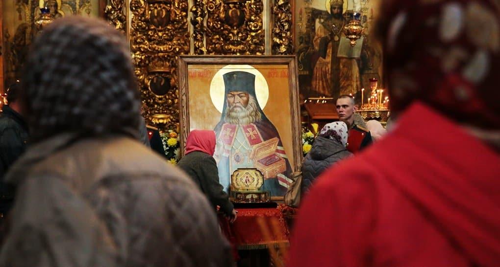 С 1 октября по 17 российским городам пронесут мощи святителя Луки Крымского