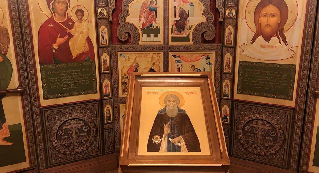В самый северный храм Сергия Радонежского принесли его икону с мощами