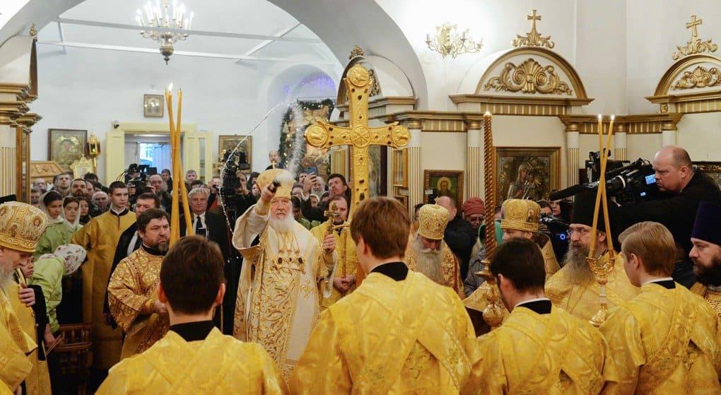 Восстановленный храм в честь Казанской иконы в Узком освятил патриарх Кирилл