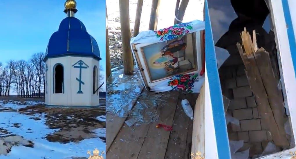 На Житомирщине вандалы разгромили часовню Украинской Церкви