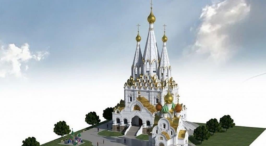 В Марьине начали строить храм в память о воинах, погибших в Великую Отечественную