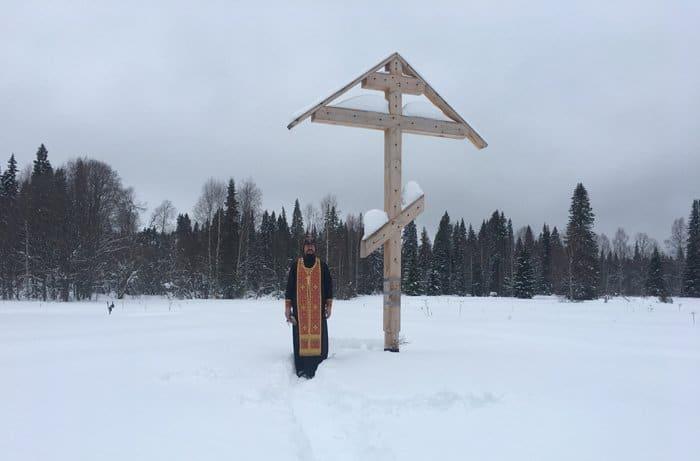 В архангельской тайге помолились о пострадавших за веру в годы репрессий