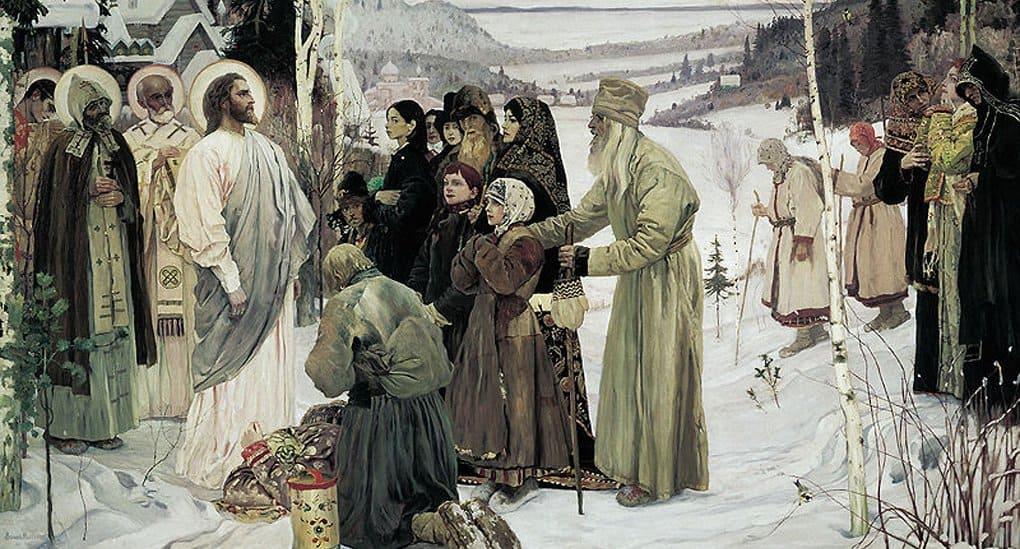 Русский музей отреставрировал картину Михаила Нестерова «Святая Русь»