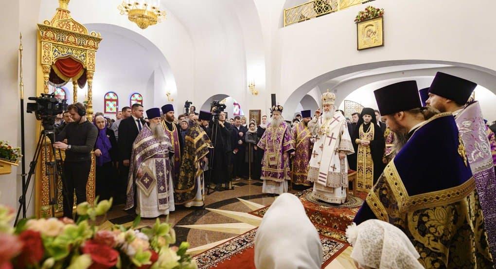 Патриарх Кирилл освятил храм на месте бывшей усадьбы в Новой Москве