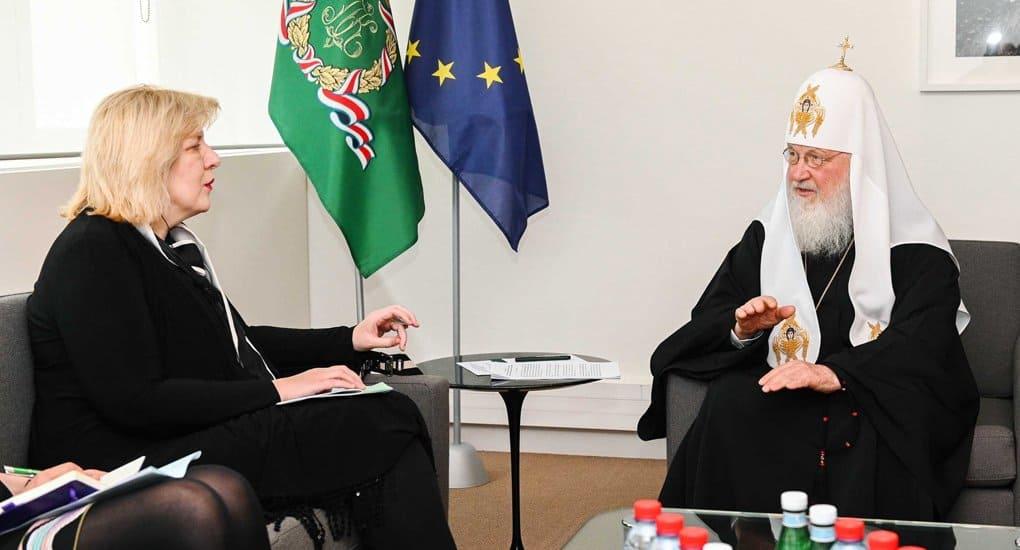 Патриарх Кирилл рассказал верховному комиссару Совета Европы о притеснениях верующих на Украине