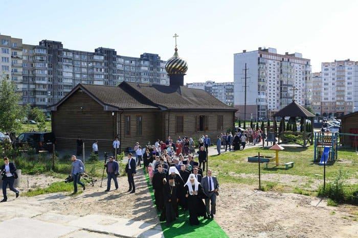 Патриарх Кирилл освятил в Калининграде место строительства Успенского храма