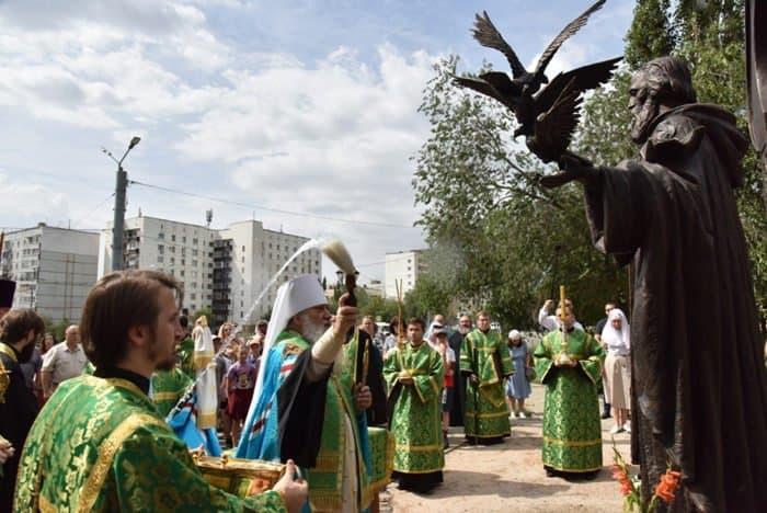 Памятник преподобному Сергию Радонежскому открыли в Оренбурге