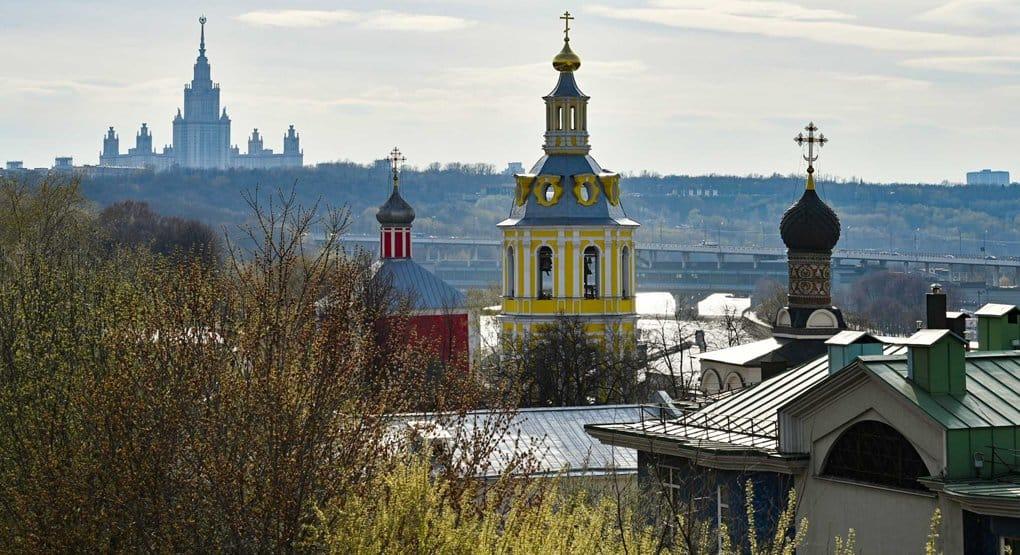 В колокольне Андреевского монастыря Москвы освятили храм