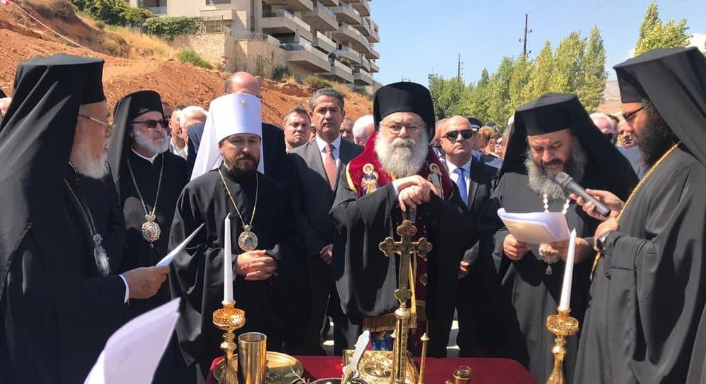 Храм в русском стиле начали строить в Ливане