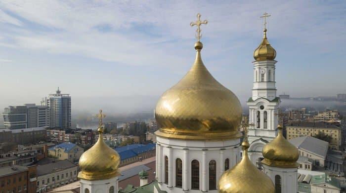 Патриарх Кирилл освятил обновленный главный собор Ростова-на-Дону