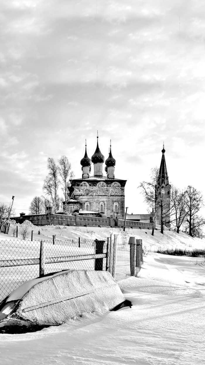 Зимние фотообои для смартфонов от фотографа