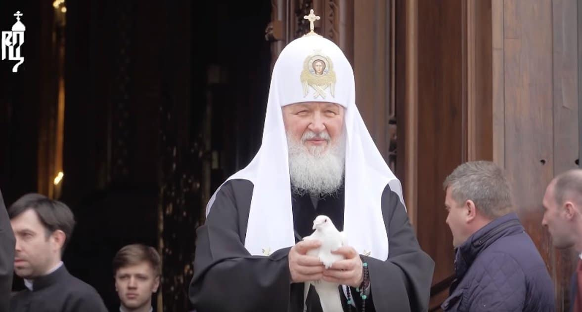 На Благовещение патриарх Кирилл помолился об избавлении от коронавируса
