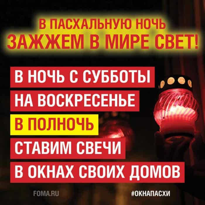 В епархиях верующих призвали поддержать всероссийскую акцию «Фомы» #окнаПасхи