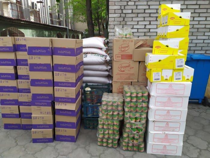 Бишкекская епархия помогает с продуктами киргизским, узбекским и русским семьям