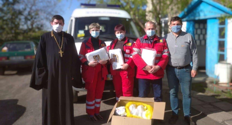 Украинские епархии продолжают помогать медикам в борьбе с коронавирусом
