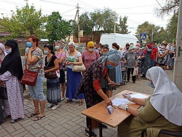 Более 500 нуждающихся семей в Киргизии получили помощь от Русской Церкви