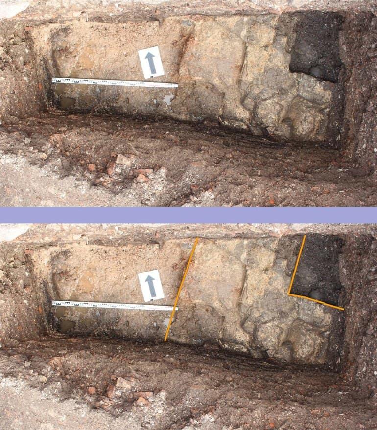 Фрагмент церкви XIV века нашли в Великом Новгороде