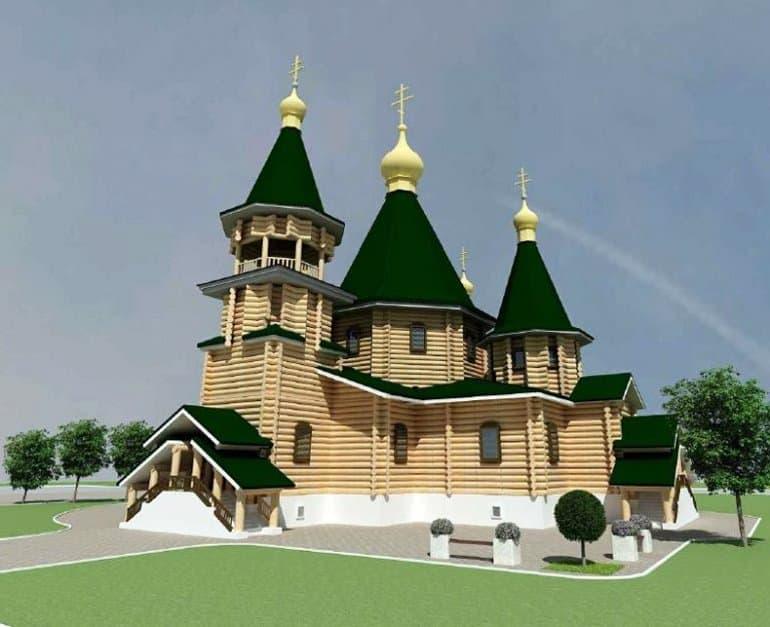 Самый большой деревянный храм «Программы 200» возводят в районе Люблино