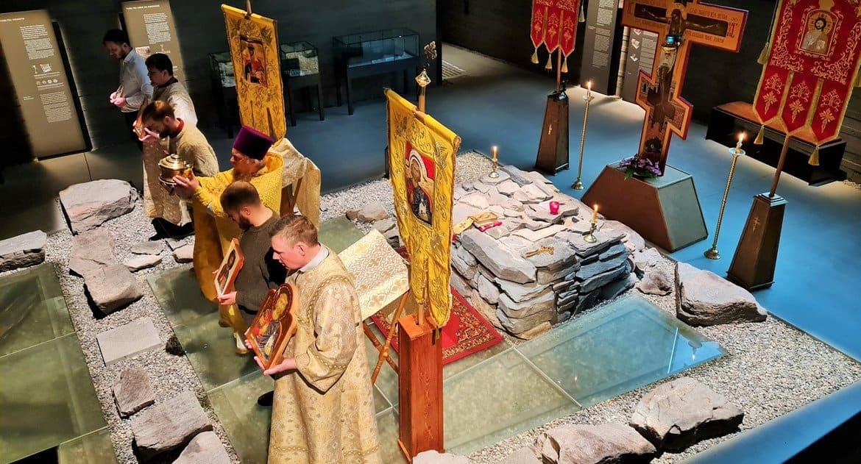 На месте древнего храма Тронхейма впервые за почти тысячу лет совершили православную Литургию