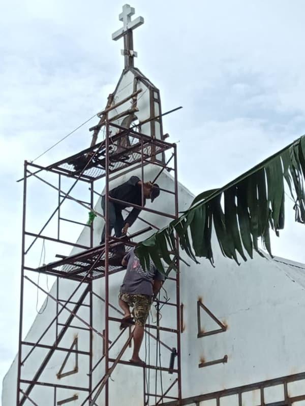 Восстановлен пострадавший от землетрясения храм на Филиппинах