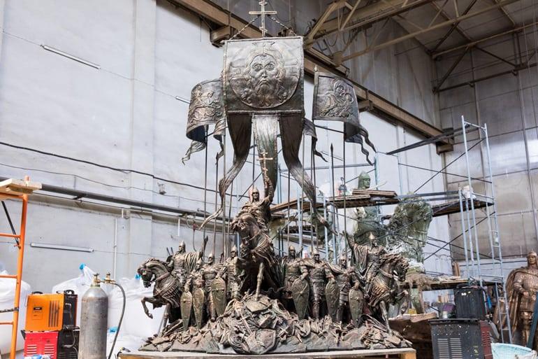 В Химках создают мемориал Александру Невскому с дружиной, который установят на берегу Чудского озера