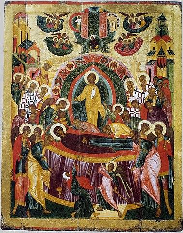 Икона Успения, XVI век