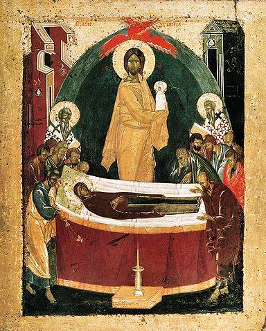Икона Успения, XIV век