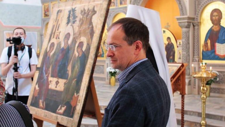Храму Троицка передали икону «Троица Ветхозаветная», повторяющую образ Андрея Рублева