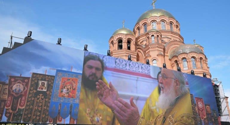 Патриарх Кирилл освятил в Волгограде воссозданный Александро-Невский собор