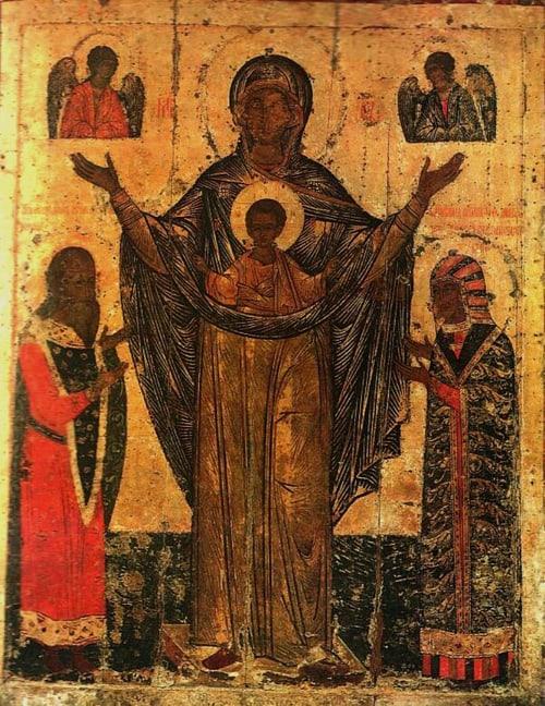 Церковь чтит Мирожскую икону Божией Матери