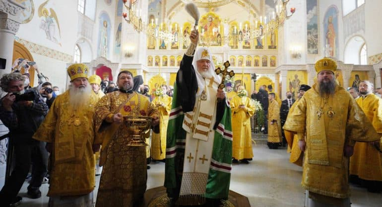 Патриарх Кирилл освятил в Орле храм в честь Казанской иконы Божией Матери