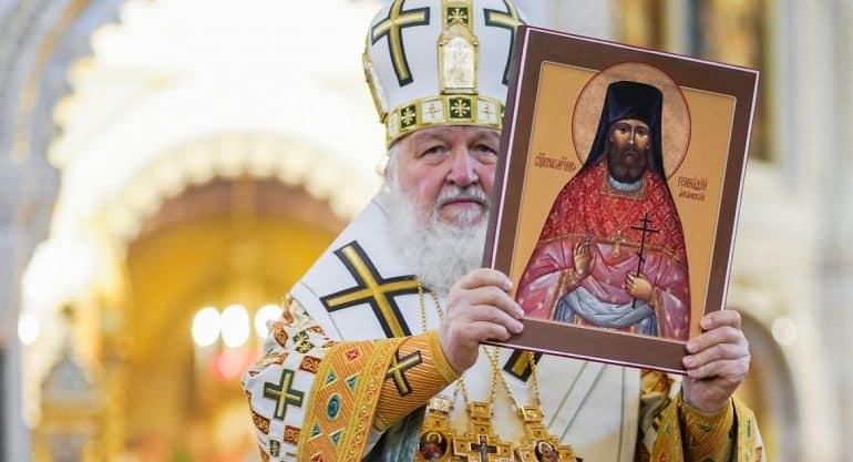 Патриарх Кирилл возглавил прославление в лике святых архимандрита Геннадия (Парфентьева)