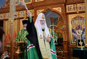 Патриарх Кирилл освятил на Валааме храм Живоначальной Троицы