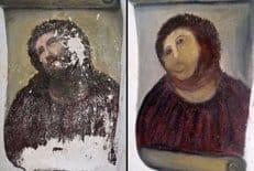 В Испании прихожанкой храма испорчена фреска XIX века