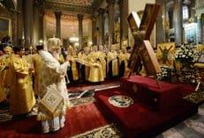 В Санкт-Петербурге встретили крест апостола Андрея Первозванного