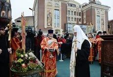 Патриарх Кирилл освятил закладной камень храма в честь новомучеников в Сретенском монастыре