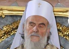 Патриарх Ириней подарил Российскому православному университету герб Сербской Церкви
