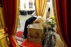 Патриарх Кирилл поклонился мощам благоверного князя Александра Невского