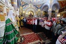 Патриарх Кирилл совершил молебен в сочинском храме Нерукотворного Образа Спасителя
