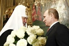 Президент России Владимир Путин поздравил патриарха Кирилла с 5-летием со дня интронизации