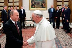 Владимир Путин подарил Папе Римскому Владимирскую икону Божией Матери
