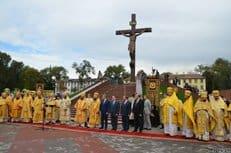 В Днепродзержинской епархии установили самое большое Распятие в Украине