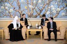 Патриарх Кирилл встретился с главой Управления КНР по делам религий Ван Цзоанем