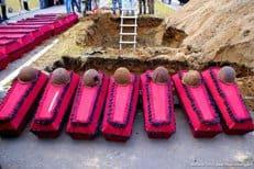 В Новгородской области захоронили останки более 500 солдат Великой Отечественной войны